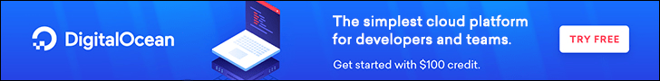 DigitalOcean - Get started with $100 credit