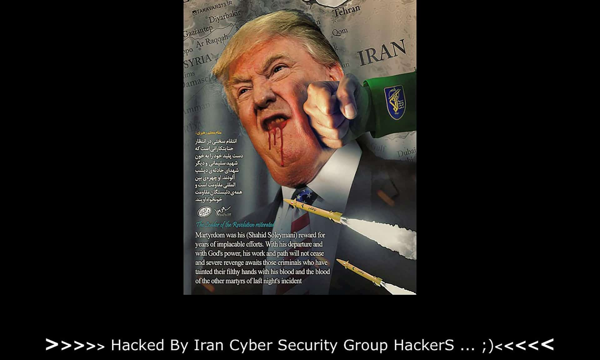Hacked by Iran CyberSecurity Group Hackers