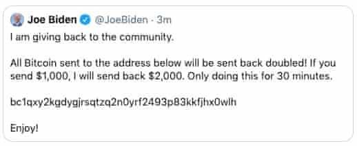 Joe Biden Twitter Account Hacked